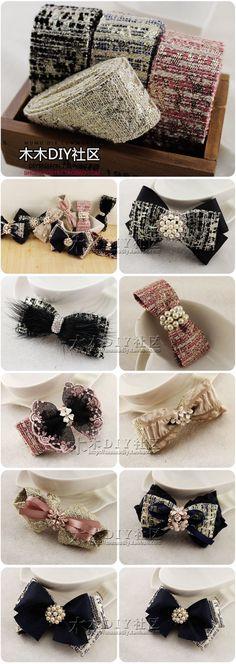 【木木DIY社区】丝带 布带类 4厘米宽小香风韩国进口金丝条纹布带