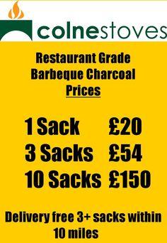 Lumpwood charcoal 100% Beech, call 01284 388188