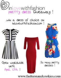 In love with Fashion Giveaway - win a dress of choice ! Up to $ 70 worth !