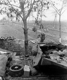 GMC in the course of defense on outskirts of Moselle, France, the end of M10 Wolverine, M10 Tank Destroyer, Operation Market Garden, Ww2 History, Ww2 Photos, Photo Dump, War Image, War Dogs, Military Diorama