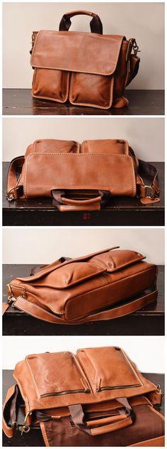 Mens Leather Messenger Bag (SU08) from Senger Leather Bag