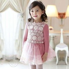 Lacey Pink Net Work Lovely #Party #Fleece #Dress.    Special Price: Rs900.00