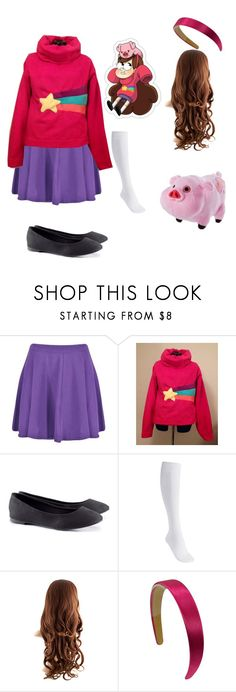 """""""Mabel Pines Cosplay"""" by that-fandom-nerd ❤ liked on Polyvore featuring MABEL, H&M and Disney"""