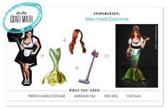 Do the Craft Math! P.S.- I made this...Mer-maid Costume #PunnyHalloweenCostumes