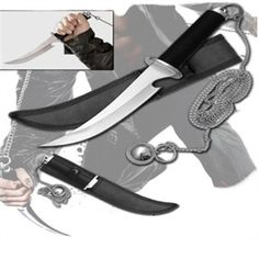 Raizo's weapon from the movie Ninja Assassin! This knife is long with a thick stainless steel blade featuring a gut hook and the identifiable attached chain weapon. Ninja Assassin Movie, Assassin Movies, Ninja Gear, Armas Ninja, Martial Arts Weapons, Ninja Weapons, Home Defense, Knives And Swords, Katana
