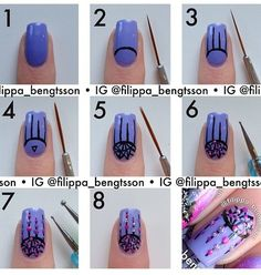 How to step by step on dream catcher nail art.