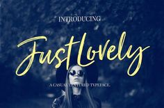 Just Lovely Font & Extras is a casual dry brush font with a multitude of letter variations to make that perfect and unique design