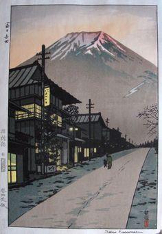 Fuji de fondo
