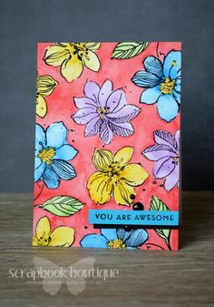 Lostinpaper - Altenew - Painted Butterflies / Wild Hibiscus -Awesome (card)