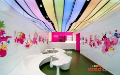 Stretch Ceilings - 3D Effect With LED Backlighting