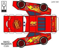 42 Ideas for party kids cars lightning mcqueen Disney Cars Party, Disney Cars Birthday, Cars Birthday Parties, Paper Car, Paper Toys, Auto Party, Lightening Mcqueen, Lightning Mcqueen Party, Car Themes