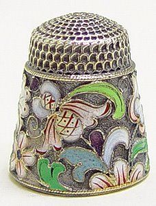 This was recently listed on eBay as a Russian silver and enamel thimble.