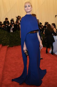 Cameron sparkled in cobalt blue Stella and a dangerously stylish spiked belt.    For more sensational Stella, visit http://balharbourshops.com/fashion/item/1767-stella-mccartney