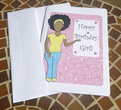 African-American Birthday Card for Girls/Women by RuthiesGreetings