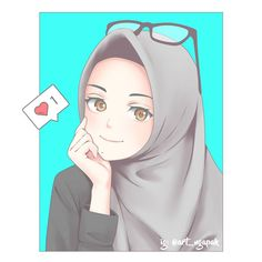 The actual scarf is an essential bit while in the garments of females together with hijab. Illustration Cartoon, Anime Korea, Hijab Drawing, Islamic Cartoon, Hijab Cartoon, Islamic Girl, Muslim Girls, Muslim Women, Cute Cartoon Wallpapers