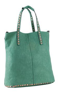 STUDS DECO HANDLES & BOTTOM LINE SHOPPER BAG City Bag, Shopper Bag, My Favorite Things, Studs, Deco, Spring, Bags, Accessories, Fashion