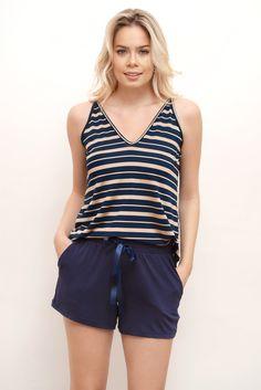 Pijama verão Ideias Fashion, Casual Shorts, Women, Sleep, Woman