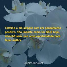 Boa Noite! Termine o dia sempre com um pensamento positivo
