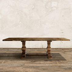Kensington Extension Dining Table in Barnwood Brown | Arhaus Furniture
