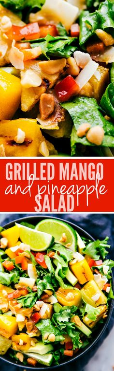 Grilled Mango and Pineapple Salad