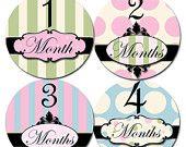 Onesie monthly stickers