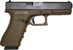 Glock 17 9mm, w/17 Round Mags, FLAT DARK EARTH FRAME Gen 3 Find our speedloader now!  http://www.amazon.com/shops/raeind