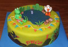 Kindertaarten 2 - Koning Kikker Kikker cake