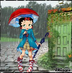Betty Boop in the rain Picture