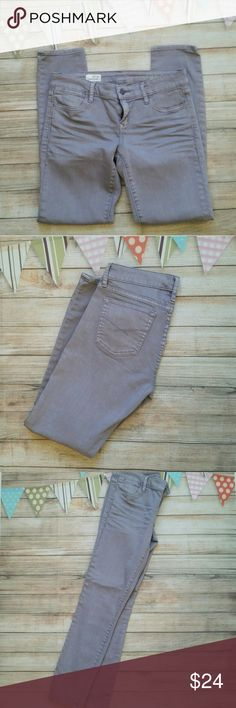 """GAP 1969 Skinny Ankle Jeans Like new, unique grey-lilac color with 27"""" inseam. The creases are actually part of the design. GAP Jeans Skinny"""