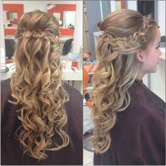 Half up half down wedding hair