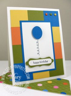 Stampin up decorative label punch video tutorial birthday card