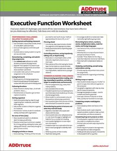 Does your child struggle with any of these executive functions? Find accommodations that make a difference.