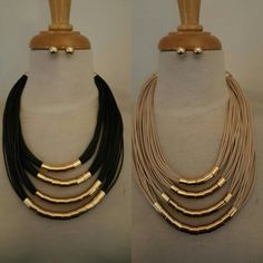 Beautiful Layered Necklace and Earrings Set.
