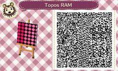 Este es un QR Code para Animal Crossing, creado por mí; como podéis observar, es un suelo, pared... (lo que deseéis) de topos, en un degradado de color fucsia. [1-7]  Lo podéis encontrar en mi canal de YouTube: https://www.youtube.com/channel/UCh6uwa2CjSgR4WQ-ghRQY6Q (Roxy).  ¡Espero qué os guste! ;)