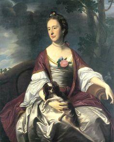 1763 John Singleton Copley (American colonial era artist, 1738-1815) Mrs Jerathmael Bowers.