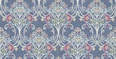 Delhi Floral (SZ001807) - Albany Wallpapers - An all over wallpaper design, featuring a trailing motif of stylised contemporary flowers. Shown here in the marine colourway. Other colourways are available. Please request a sample for a true colour match. Paste-the-wall product.