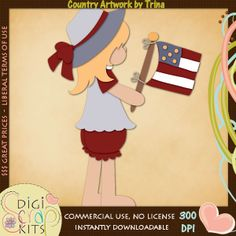 Little Miss Patriot 1 - Trina Clark Cutting File / Paper Piecing : Digi Web Studio, Clip Art, Printable Crafts & Digital Scrapbooking!
