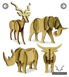 HEAD ON DESIGN - kudu, rhino, elephant, nguni, sable and buffalo sculptures: Laser Art, 3d Laser, Laser Cut Wood, Laser Cutting, Scroll Saw Patterns, Wood Patterns, 3d Puzzel, Cut Animals, Wood Animal