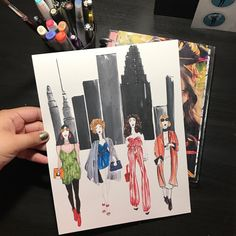 New York Fashion Week inspired print. Available in 4 sizes and with the option to customize their skin colors :)