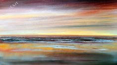 Easy Seascape , Acrylic painting, beginners lesson ,