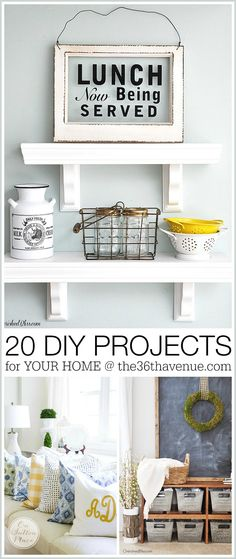 Home Decor DIY Projects. These ideas are gorgeous!