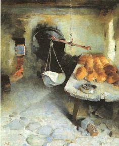 The bakery.: Helene Schjerfbeck