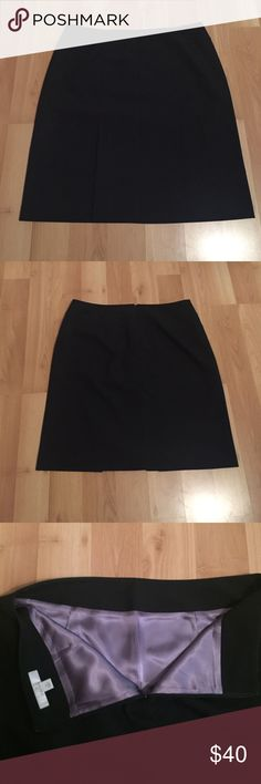 Black Caslon skirt Gorgeous black Caslon skirt. Light pleating on the front to add a little detail. Beautiful purple lining. In like new condition. Caslon Skirts