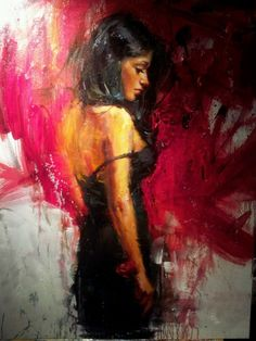 Oil painting by Henry Asencio ..model: Mable Abraham