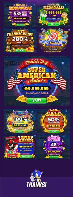 Sega Slot Game - UI Design