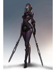 /r/CyberBooty collects art featuring hot cyberpunk, android, cybernetic, and mechanically enhanced chicks or all sorts. Character Concept, Character Art, Character Design, Armor Concept, Concept Art, Gundam, Female Armor, Sci Fi Armor, Sci Fi Characters
