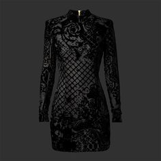 Classic French couture meets urban chic #HMBalmaination Velvet dress in a silk blend 699 AED