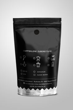 Coffee Package Design for Coffee Roasters Copyright Aileen Burkhardt punze typografie