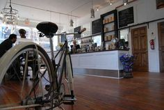 My friend Mike Salvatore in Chicago recently opened his first bike shop hosting his own bike brand and a Stumptown coffee shop. Pretty nice!