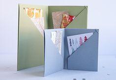BOOK ARTS - modified origami wallet Creativebug - Jody Alexander - Six Pocket Keepsake Book pinterest.com/pin/110549365827530040/